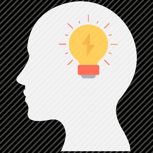 brain, bulb, creative mind, creativity, idea icon