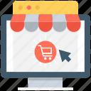 buy online, cart, kiosk, online shopping, shopping cart