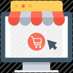 buy online, cart, kiosk, online shopping, shopping cart icon
