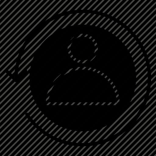 Marketing, digital, visitor, returning icon