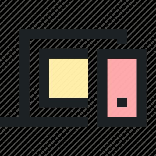 computer, digital, market, marketing, system icon