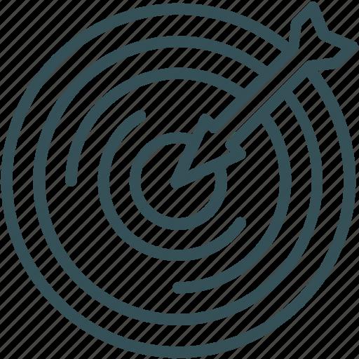 arrow, bullseye, darts, goal, target icon