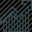 analytics, bar, chart, graph, increase