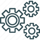 cogs, development, gears, settings, setup icon