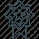 award, medal, premium, rank, star icon