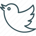 animal, bird, sign, twitter, twitter sign icon