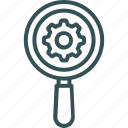 cog, gear, lens, megnifire, settings icon