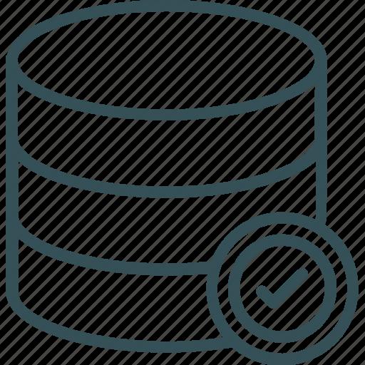 accept, data storage, databas, rack, server icon