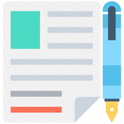 cv writing, document, paper, pencil, writing icon