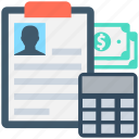 accounting, banking, calculation, finance, payment icon