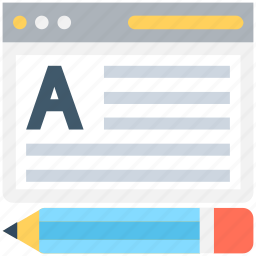 article, article writing, online article, pencil, text icon