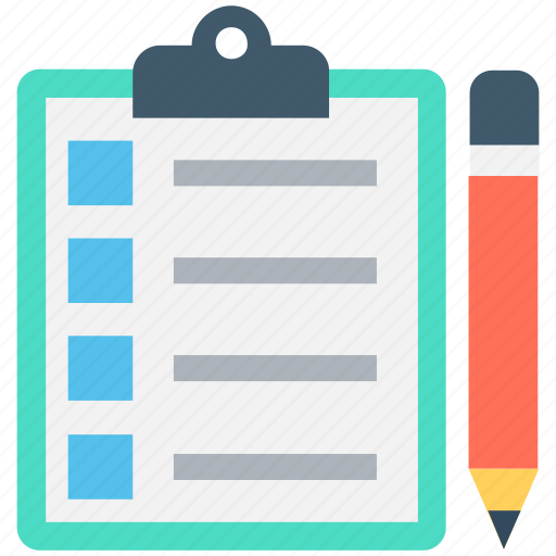 checklist, clipboard, pencil, plan list, schedule icon