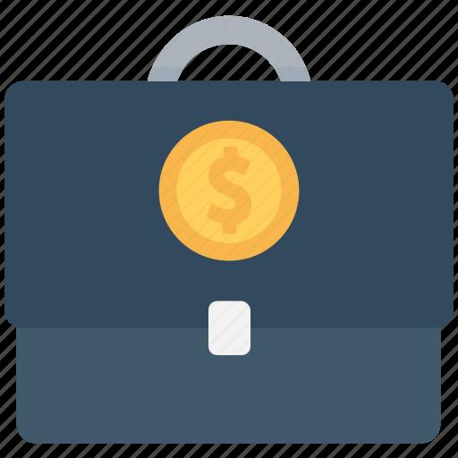 bag, business bag, currency bag, dollar, money bag icon