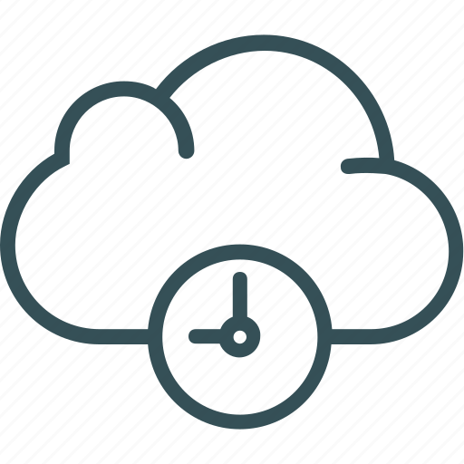 away, backup, cloud, history, time icon
