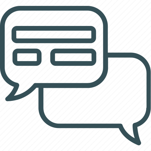 chat, communication, messaging, talk, text icon