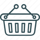 basket, cart, empty, full, shopping icon