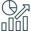 analytics, arrow, bar, graph, up icon