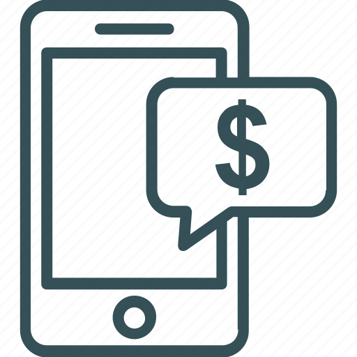 dollar, marketing on mobile, mobile, mobile phone, money icon