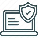 antivirus, computer, laptop, security, shield icon