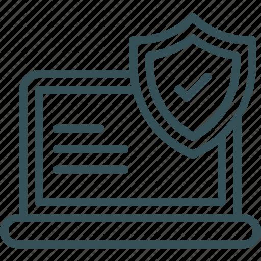 antivirus, computer, laptop, security, shield icon