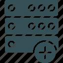files, rack, save, server, storage icon