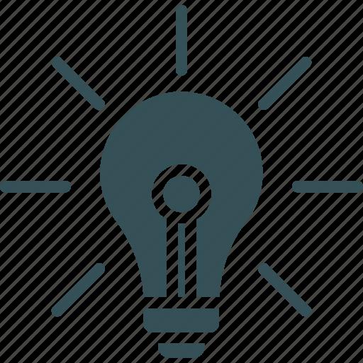 bulb, creative, idea, light, light blub icon