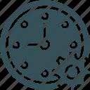 clock, cog, date, setting, time
