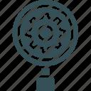 cog, gear, lens, megnifire, settings