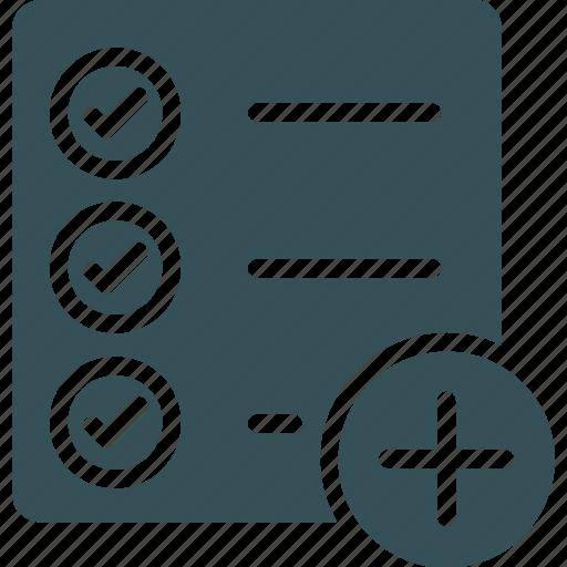 add, checklist, clipboard, management, task icon