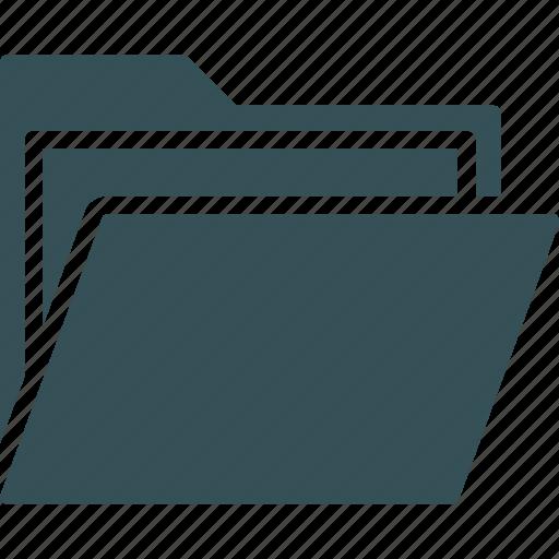 archive, files, folder, open folder, storage icon
