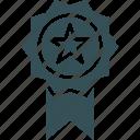 bagde, best, medal, premium, service icon