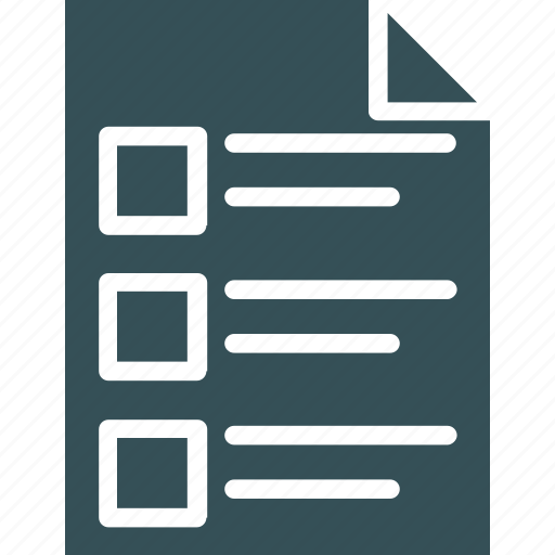agenda, document, paper, sheet, task icon