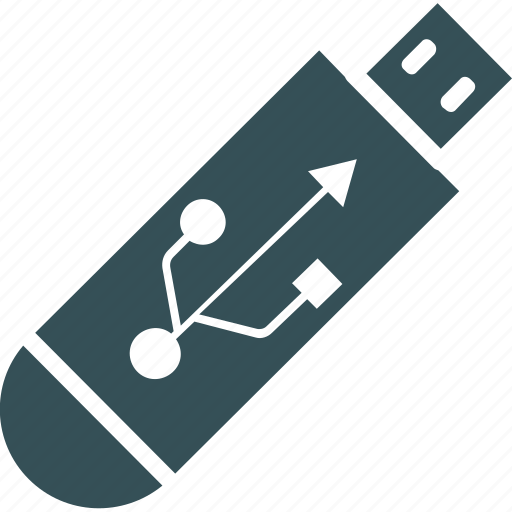 data, multimedia, share, stick, usb icon