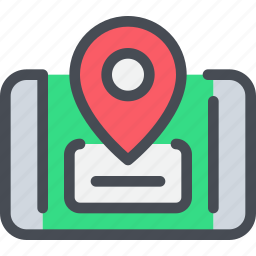 business, gps, location, map, mobile, smartphone icon