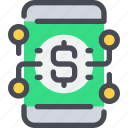 banking, business, mobile, money, payment, smartphone icon