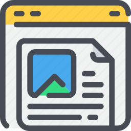 blog, browser, business, content, marketing icon