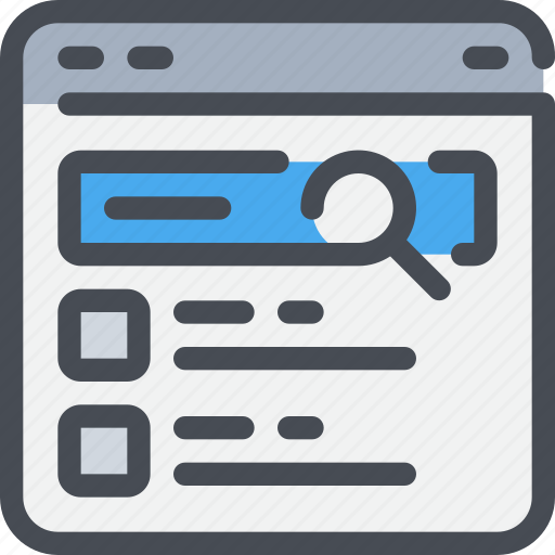 browser, business, information, research, result, search icon
