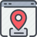 browser, business, gps, location, map, online icon
