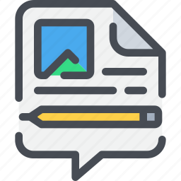blog, business, content, education, marketing, online icon