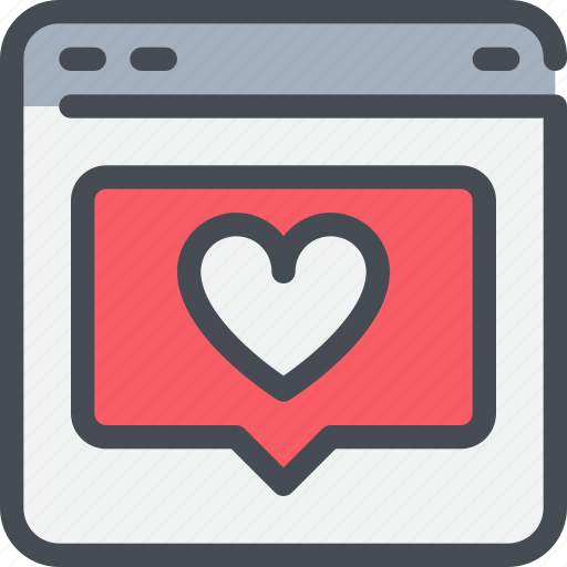browser, business, communication, love, media, social icon