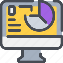 analysis, business, computer, data, report, seo icon