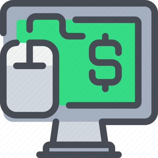 business, click, computer, pay, per icon