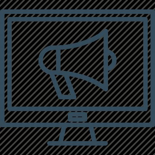 Bullhorn, computer, marketing, media, megaphone, promotion, social icon - Download on Iconfinder