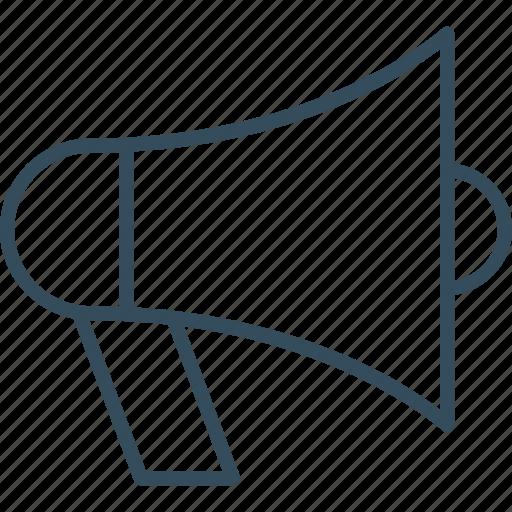 bullhorn, digital, marketing, media, megaphone, social, social media icon