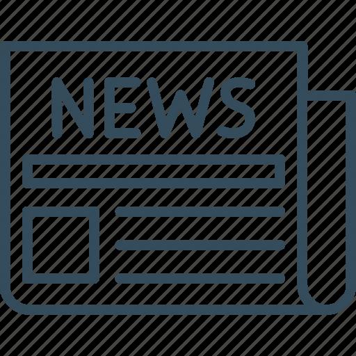 marketing, media, news, newspaper, paper, social, social media icon
