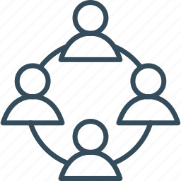 connection, human, management, marketing, people, social, teamwork icon