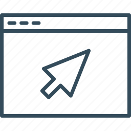 arrow, browser, computer, internet, technology, web, website icon