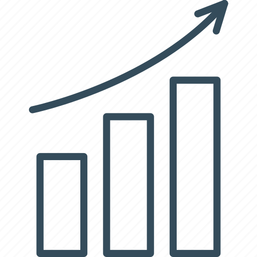 chart, column, graph, growth, infographics, success, up icon
