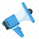 advertising, loudspeaker, marketing, megaphone icon