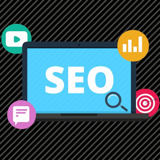 advertisement, digital marketing, seo, smo icon
